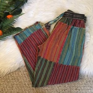 Pants - Lightweight Baja Patchwork Hippie Cutoff Pants